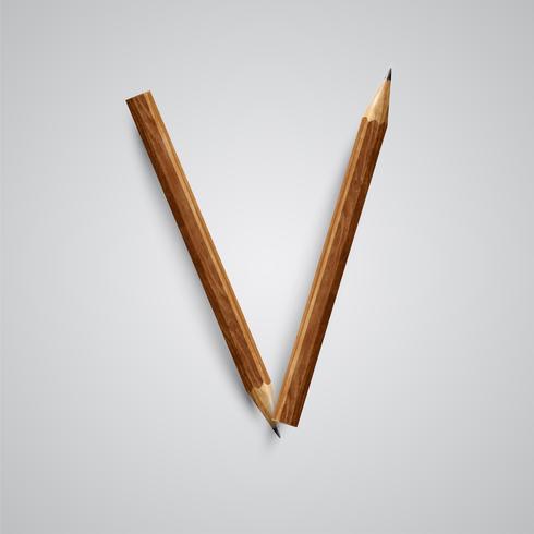 Una carta hecha por lapiz, vector. vector