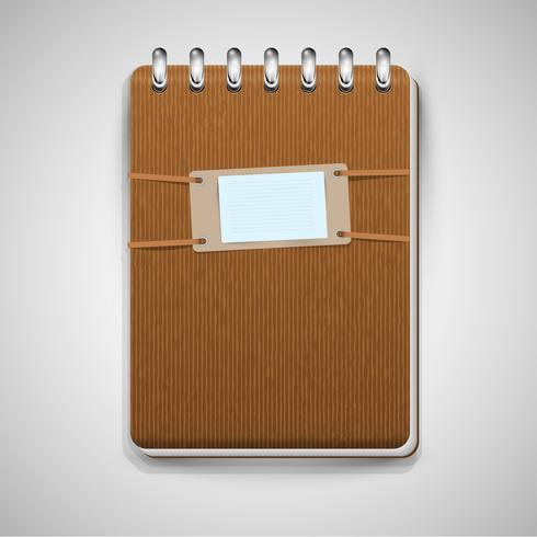 Brown notebook, vector