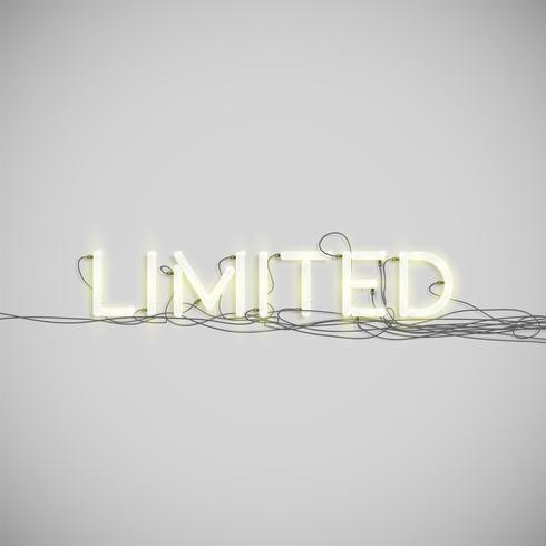 Neon electric word type, vector illustration