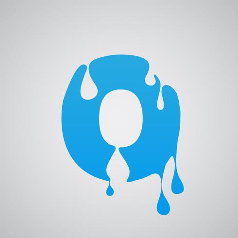 Carácter de flujo azul, vector