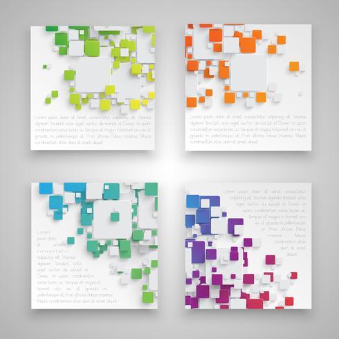 Etiquetas de negocios coloridos, vector