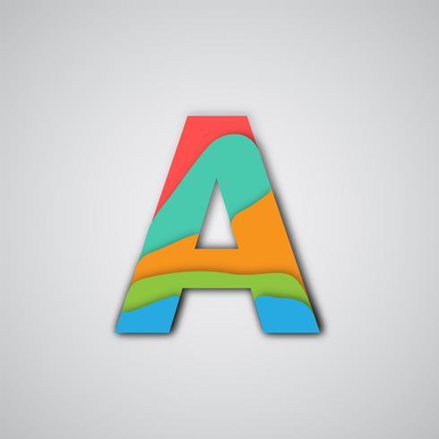 Bunter papercut überlagerter Charakter, Vektor