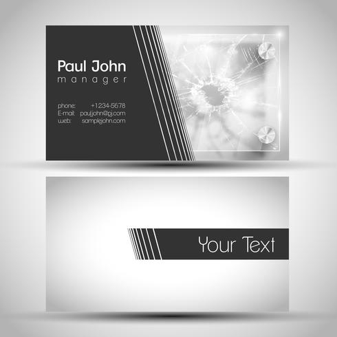 Resumen tarjeta de visita frontal y trasera de diseño