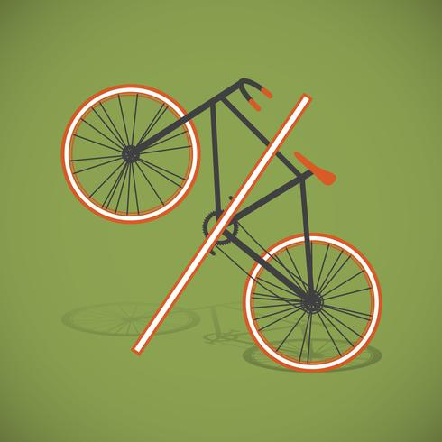 Bicycle-percent illustration, vector