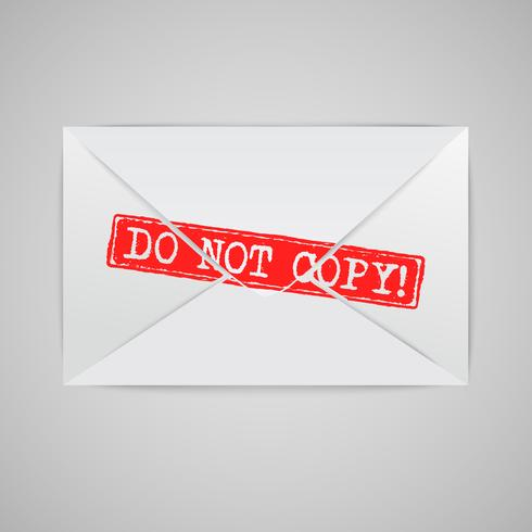 An envelope with a warning sign, vector