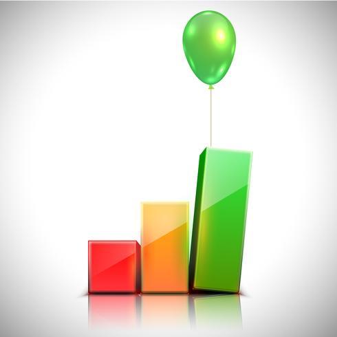 Ballongen lyfter diagrammet, vektor