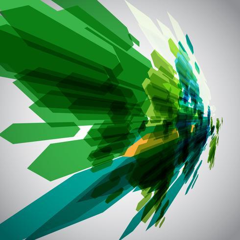 Setas verdes em vetor de movimento
