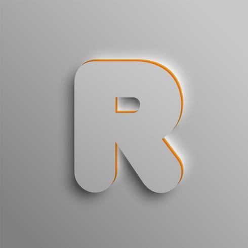 Fuente 3D realista, vector