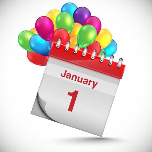 Calendario para año nuevo, vector