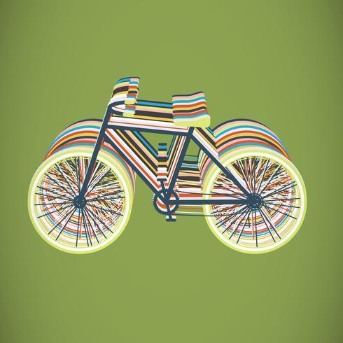 Bicicleta colorida ilustración plana, vector