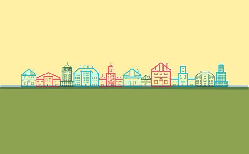 Flat design city, vector