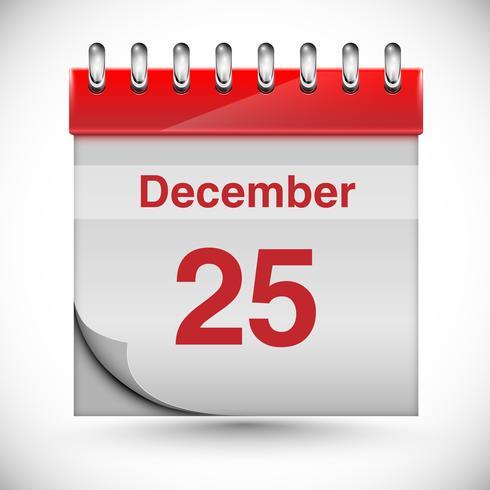 Calendar for Chritmas, vector