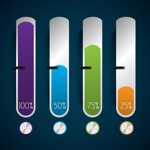 Business abstract status bars, vector