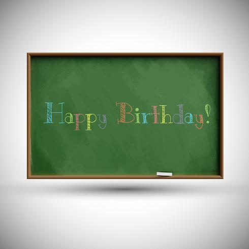 Blackboard med färgglada ballonger, vektor