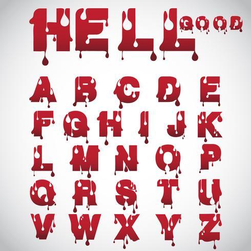 """""""Hell good"""" gemaakt van flow font, vector"""