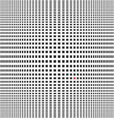 Ilustración vectorial de fondo blanco y negro de ilusión óptica