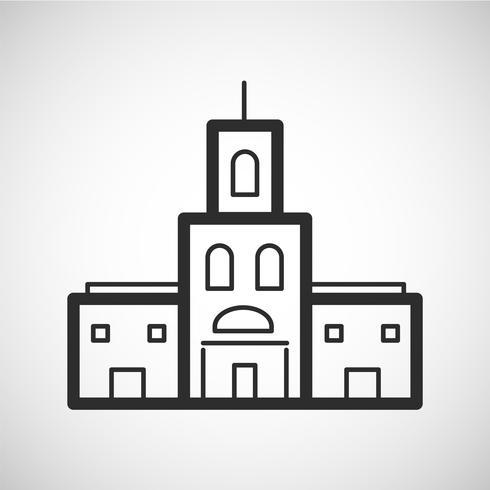 Accommodatie pictogram, vectorillustratie