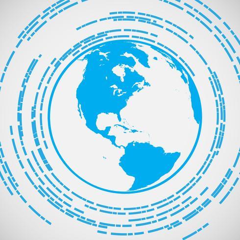 Símbolo de vetor de terra azul