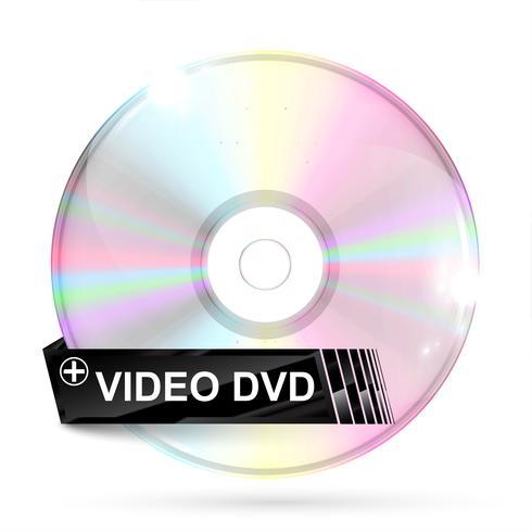 CD / DVD no fundo branco, ilustração vetorial