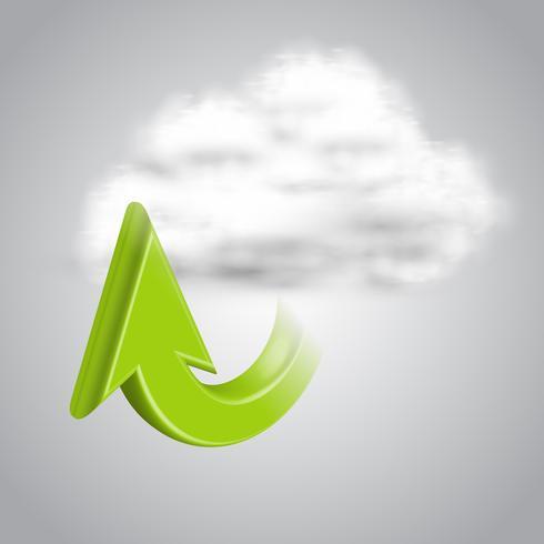Upload to cloud, vector