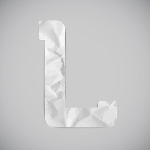 Carta hecha por papel arrugado con sombras, vector