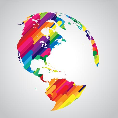 Colorful abstract world symbol