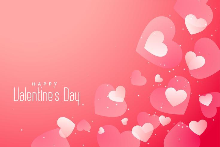 romántico día de san valentín corazones hermoso fondo