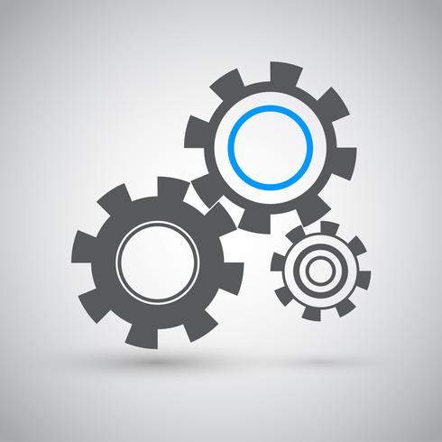Cogwheels icon, vector