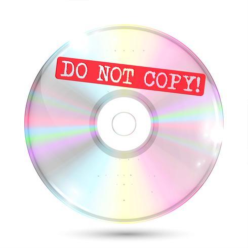 CD / DVD sobre fondo blanco, ilustración vectorial