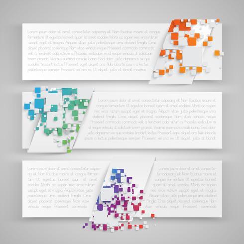 Modelli colorati per web e pubblicità, illustrazione vettoriale