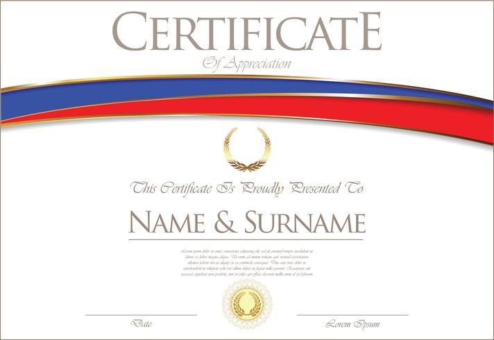 Certificato o diploma Design della bandiera della Russia