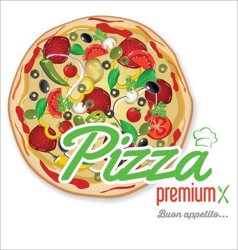 Design retrô de fundo de pizza vetor