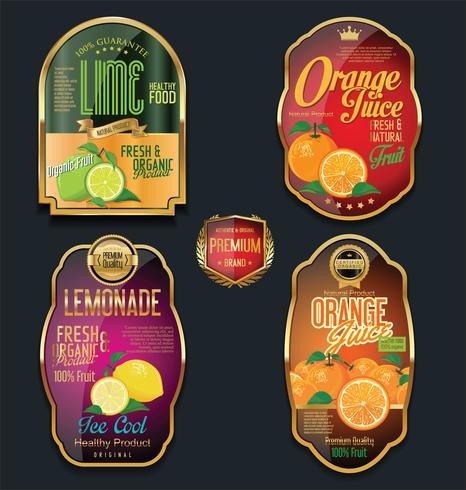 Gouden etiketten voor organisch fruitproduct