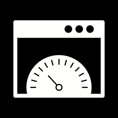 vector browser speed icon