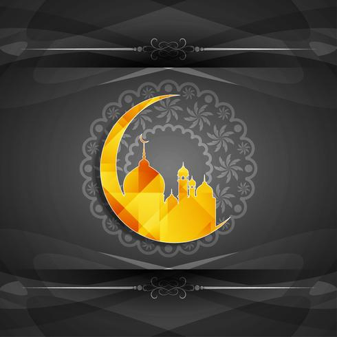 Abstract Eid Mubarak background vector