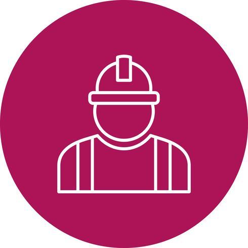Icona di vettore lavoratore