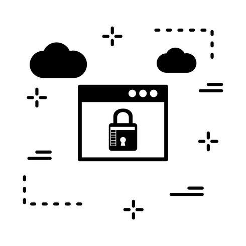 ícone de bloqueio de navegador de vetor