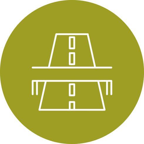 Ícone de ponte de estrada de vetor