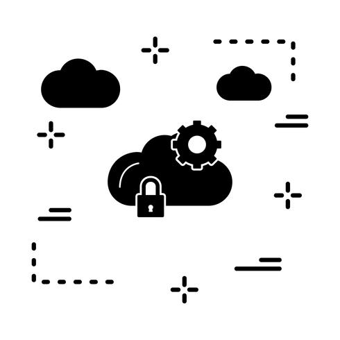 vector cloud setting icon