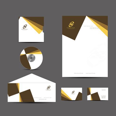 Modern business identity design set