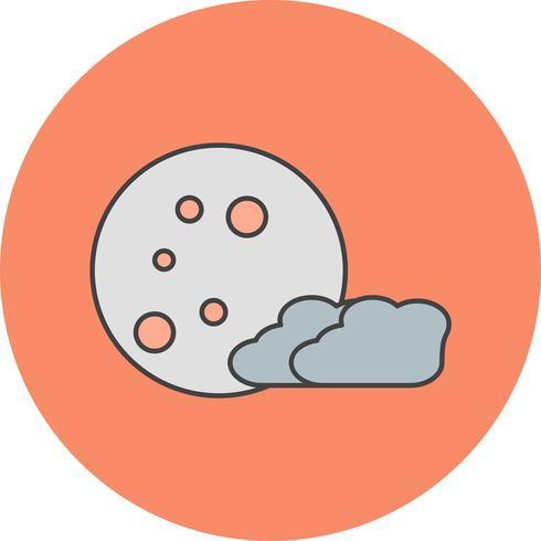 icono de vector luna