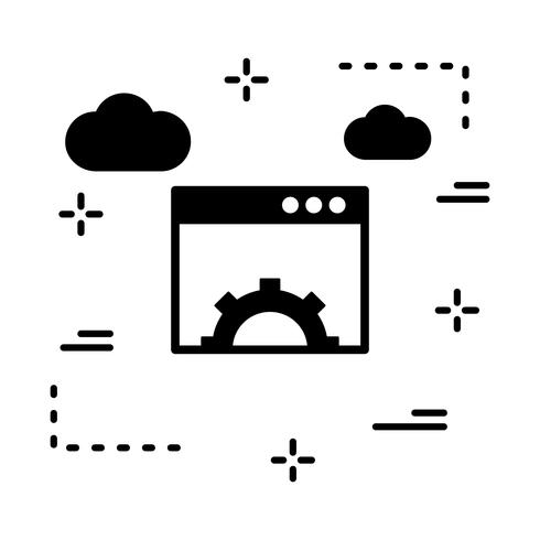 vector browser setting icon