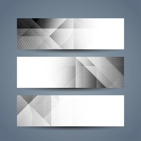 Modern banners set vector