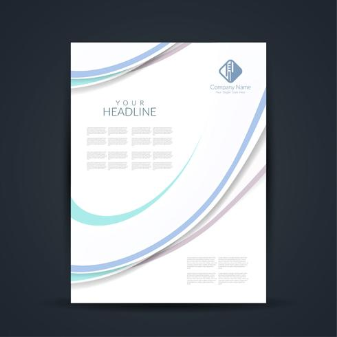 Diseño de folletos de negocios modernos. vector
