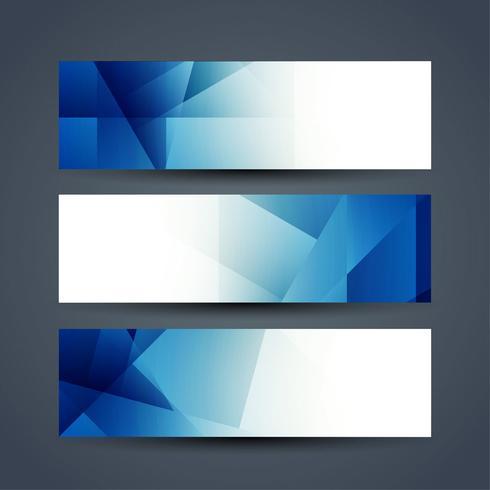 Modern banners template set vector