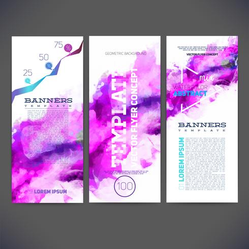 Abstract vector template banners, brochure