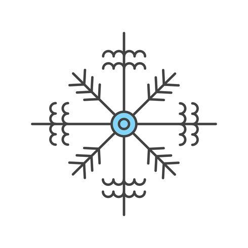 vektor snöflinga ikon