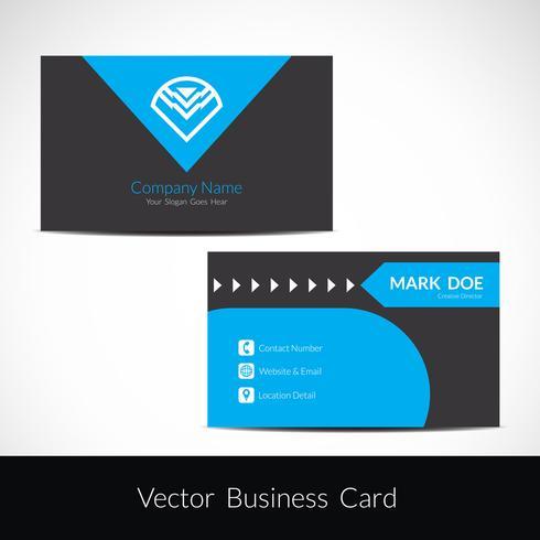 Modern visiting card template