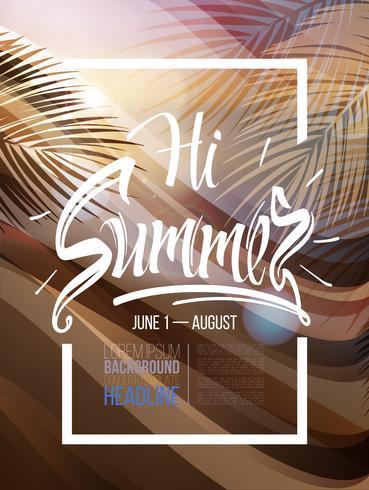 Cartaz de fundo de verão