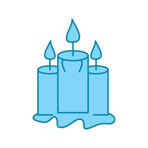 icono de velas vectoriales